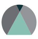 CORA icon - mint and grey beacon